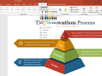 Update Shape Fill PowerPoint Pyramid Template