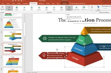 Add animated PowerPoint pyramid
