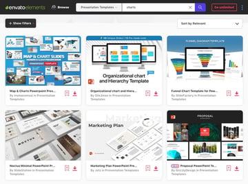 Envato Elements PowerPoint Chart Templates
