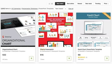 GraphicRiver PPT Chart library