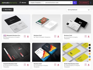 Personalized business cards templates Envato Elements