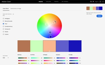 Adobe Color Option
