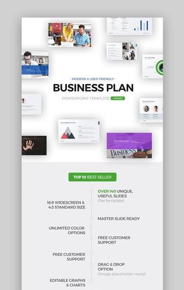 Businessplan Professionelle PPT-Vorlage