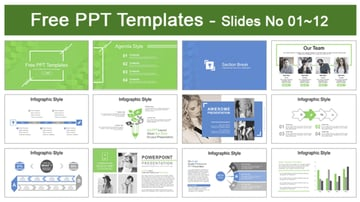 Abstract Squares PPT Template Free Download 2020