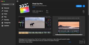 Final Cut Pro App Store