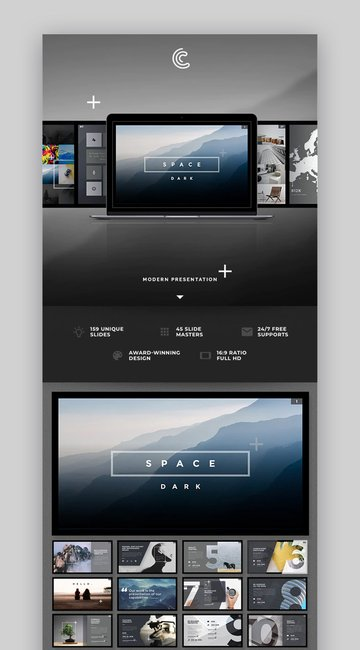 Universe PowerPoint template