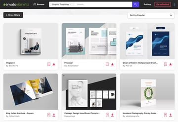 Creative InDesign Layouts on Envato Elements