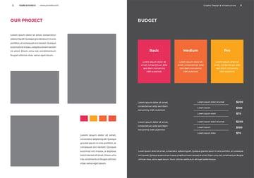 Price Proposal InDesign Layout
