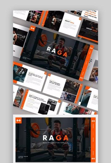 Sports Design Slide template