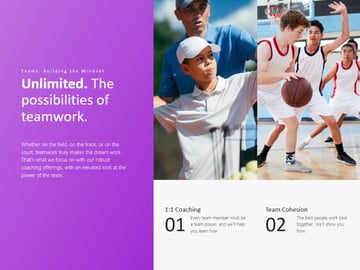 Sports PPT template