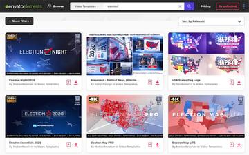 Elements item homepage