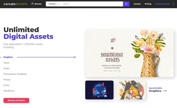 Envato Elements unlimited downloads