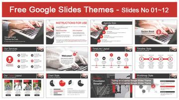 Google Slides theme for tech
