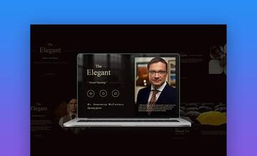 Elegant PowerPoint brochure template