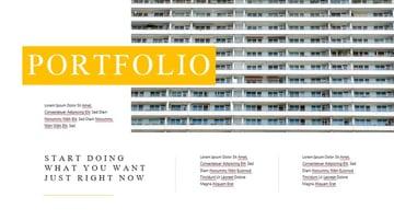 PowerPoint portfolio brochure template