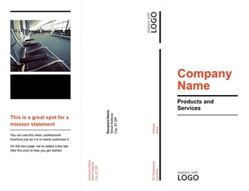 Tri fold brochure template for PowerPoint