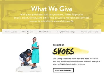 What we give Toms