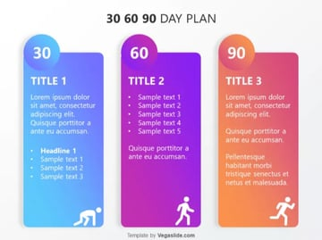 Free 30 60 90 Day template for PowerPoint free