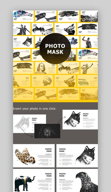 PowerPoint photo slideshow with custom masks