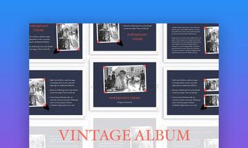 PowerPoint PPT photo album slideshow template
