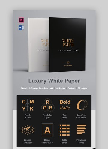 Luxury Product brochure