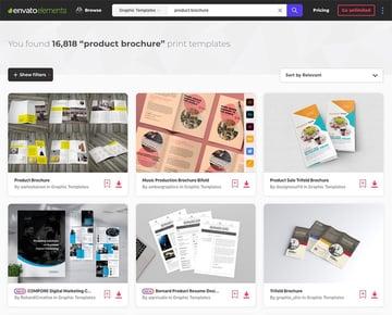 Modern product brochure templates