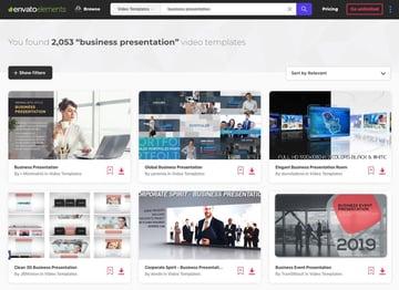 Envato Elements business presentations