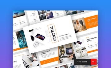 Thecnic Technology PowerPoint template