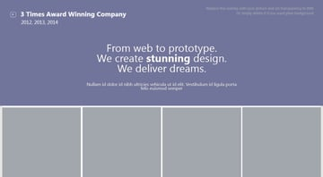 Image centric presentation design