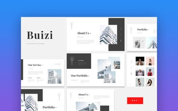 Buizi Office Building PowerPoint template