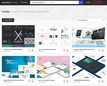 Envato Elements PowerPoint library