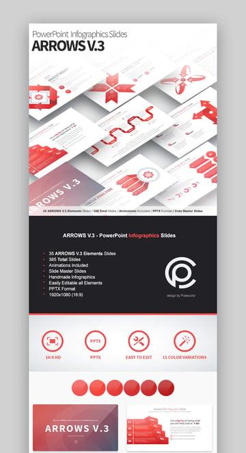 ARROWS V3 Business PowerPoint-Vorlagen mit Infografiken