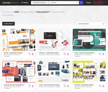 Envato Elements Google Slides Educational Templates