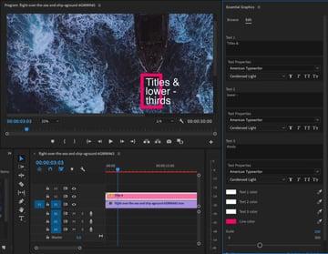 Essential Graphics Panel in Premiere