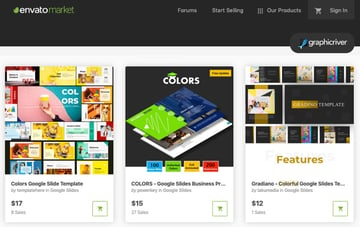 GraphicRiver Colorful Google Slides themes