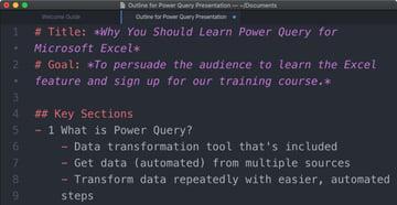 How to make a presentation outline example