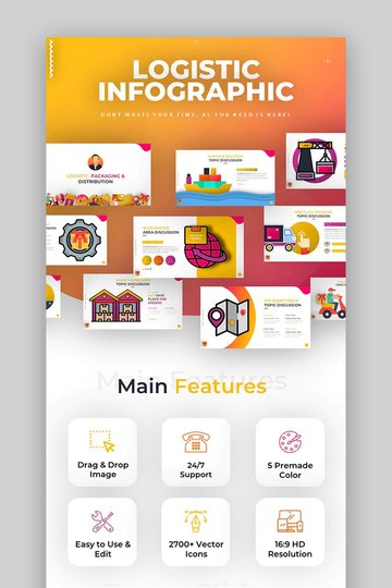 Logistic Distribution Infographic PowerPoint