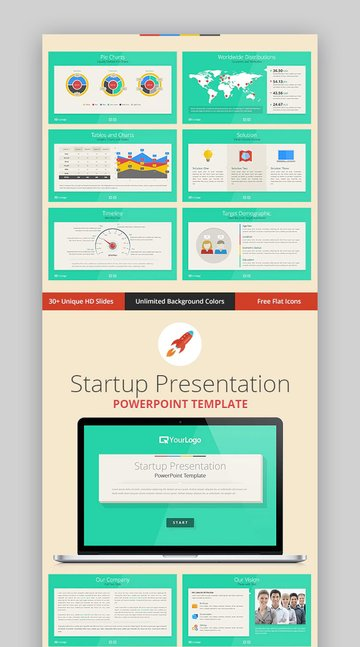 Startup Colorful PowerPoint Template
