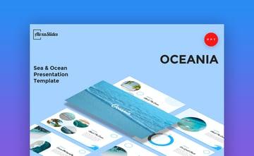 Oceania Sea and Ocean PowerPoint Template