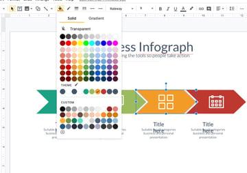Color Branding Google Slides timeline template