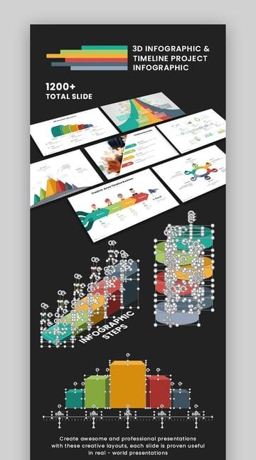 3D Keynote timeline business roadmap template