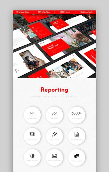 Reporting Keynote business roadmap template