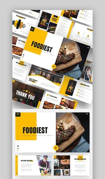 Foodiest Food Menu PowerPoint Template