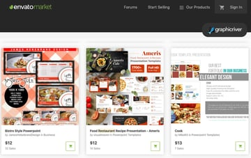 GraphicRiver Food Menu PowerPoint Templates