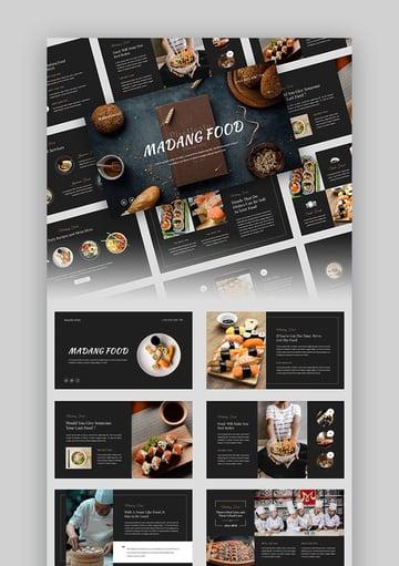 Madang Restaurant Menu PowerPoint Template