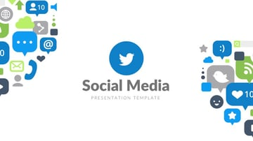 Social media report PowerPoint template free