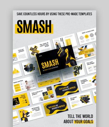 Smash animated PPT