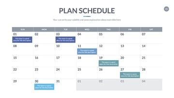 google slides calendar template 2020