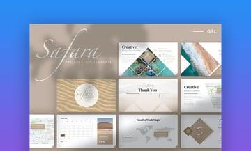Safara calendar for Google Slides