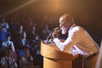 Presentation tricks speaker
